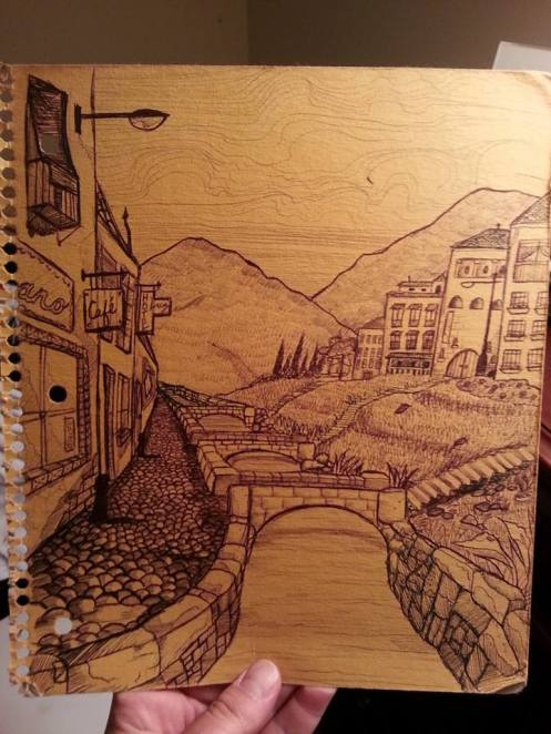 Granada on the Back of a notebook