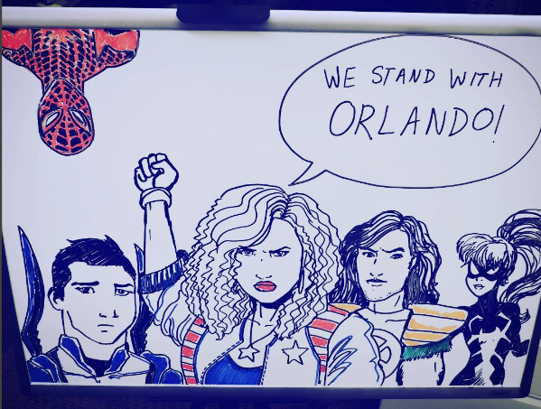 Latino Super Heroes. We Stand with Orlando.