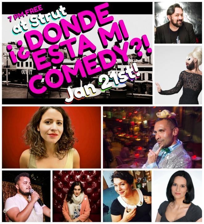 All artists Donde Esta Mi Comedy!